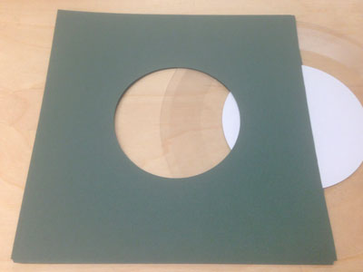 "Antique Forest Green Old Style Inner Sleeve for 7"" Vinyl Record - 50 Pack"