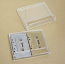 Double Cassette Box, 2 Side by Side, Clear/Clear, No Lugs