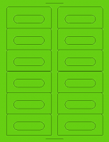 12 Fluorescent Sticker Labels - Your choice of colour