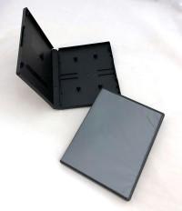 Audio Cassette Double Album Case, Black, Polypropylene