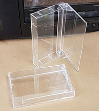 Heavy Duty Vintage Cassette Box With Narrow Back, No Posts