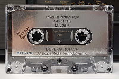 Audio Cassette Volume Calibration Tape