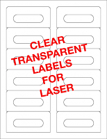 12 Transparent Sticker Labels - Inkjet and Laser