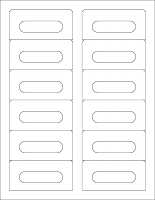 Audio Cassette Labels - 12 Up, Square Bottom Corners, Standard Matte White